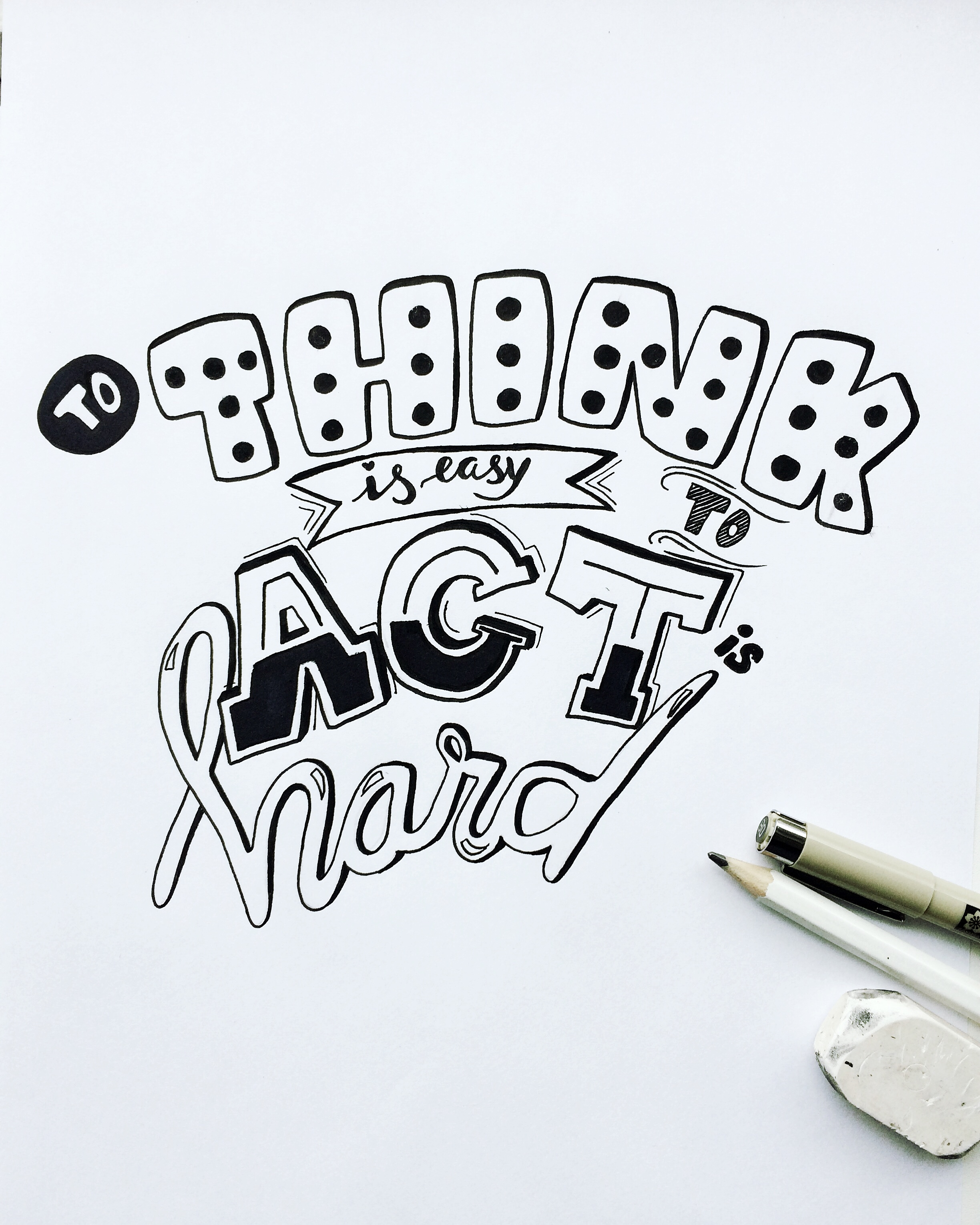 handlettering quote