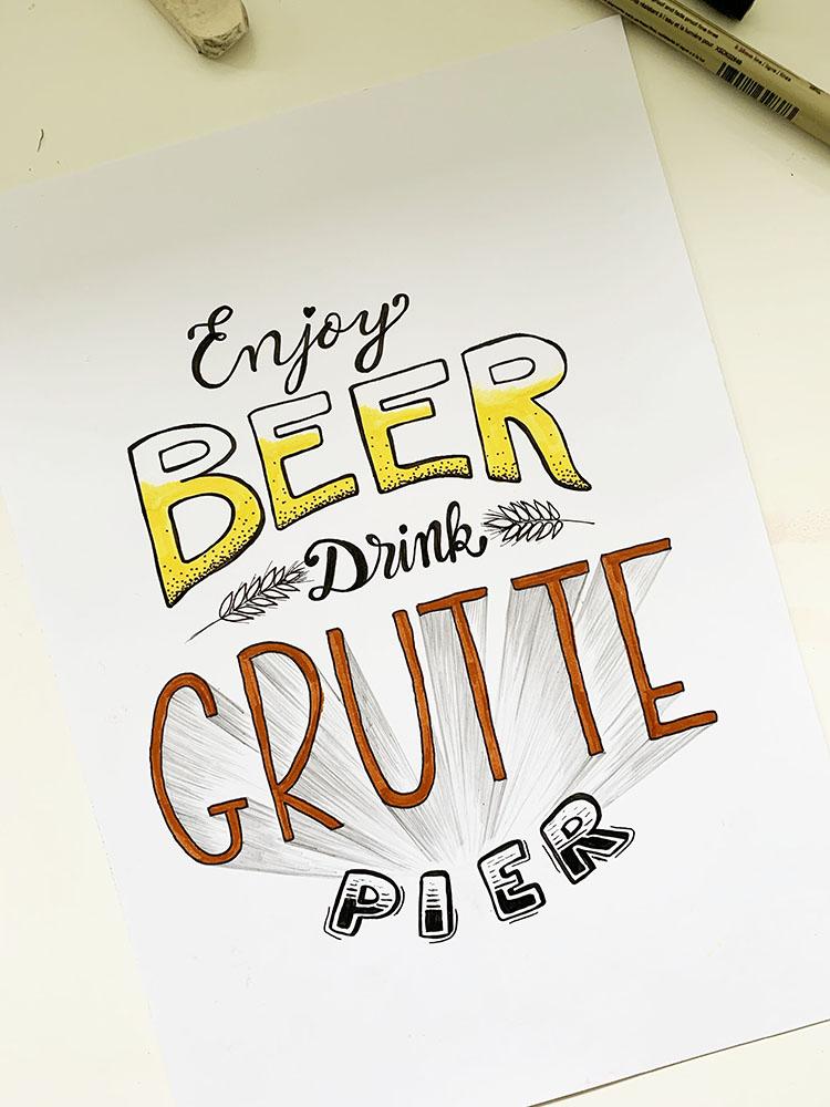 Enjoy beer drink grutte pier