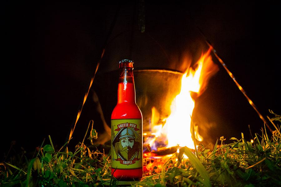 Kampvuur en bier
