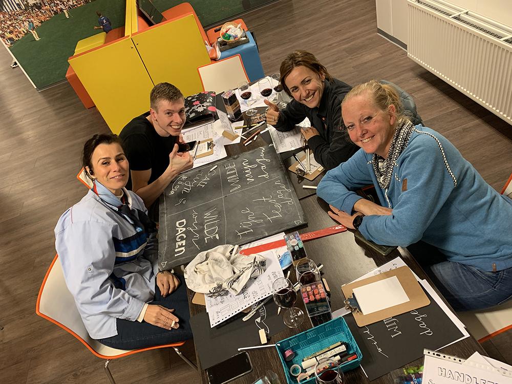 handlettering workshop Albert Heijn